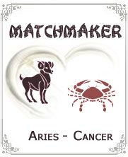Cancer and Aries:-There will be lots of fog generated when Fire meets the Water. This relationship can be little mismatch as they both show opposite characteristic to each other. Aries people are active and impulsive individuals whereas cancer people can be lazy, slow and calm individuals. Aries and Cancer will need to spend lots of time together to understand each other...