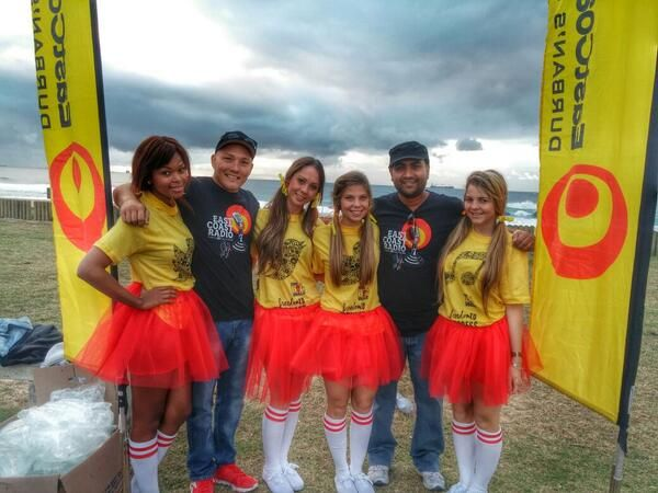 @carolralefeta ~time to rock and roll @ecr9495 #BigWalkDurban #toughjob @iamsirshin