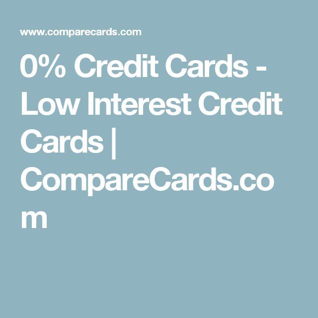 0% Credit Cards - Low Interest Credit Cards | CompareCards.com