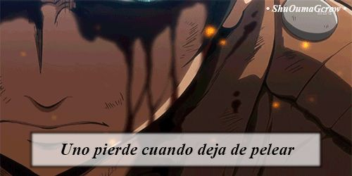 Uno pierde.. #ShuOumaGcrow #Anime #Frases_anime #frases
