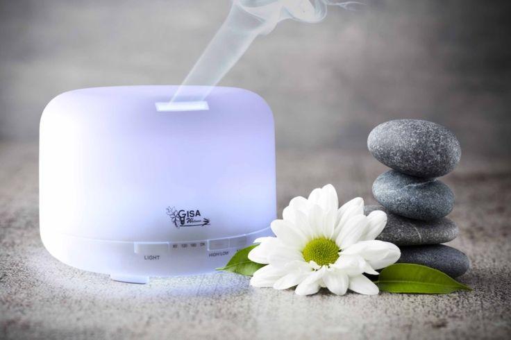 Diffusore di aroma ad ultrasuoni Gisa Wellness - #Aromaterapia e #Cromoterapia  Gisa Wellness Ultrasonic aroma diffuser - #Aromatherapy and #Cromotherapy | #wellness #benessere #salute #zen #oliessenziali #olioessenziale #diffusorediaromi #diffusoreoliessenziali