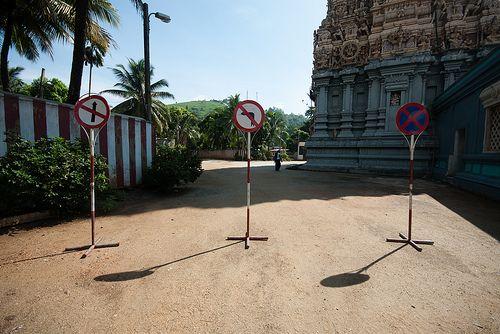 Road signaling, Matale, Sri Lanka