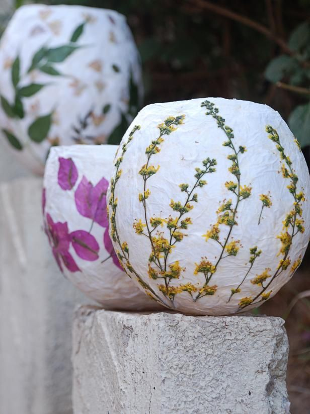 Light your garden with these handmade pressed flower lanterns