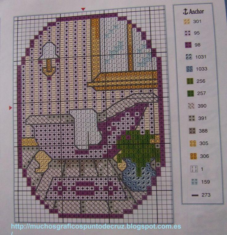 GRAFICOS PUNTO DE CRUZ GRATIS : BAÑOS(20) | Cross stitch ...