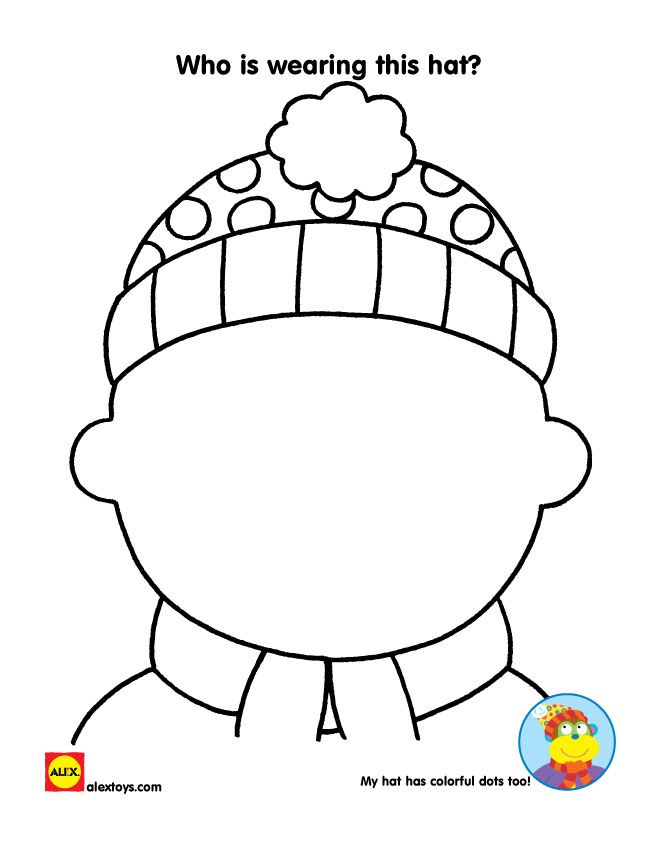 Draw a self portrait and dress yourself for winter with this fun printable! | alextoys.com