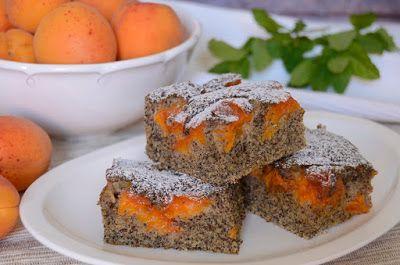 Citromhab: Sárgabarackos mákos sütemény