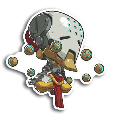 "Enjoy this 4.5"" tall Spray of your favorite Overwatch character, in sticker…"