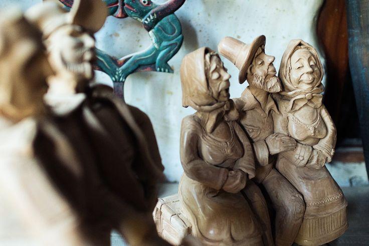 Arts and crafts, ceramic sculptures by Dan Les, Romanian figurative ceramic artist