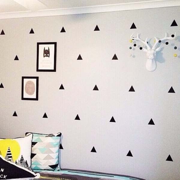 Triangle Shape Wall Decal