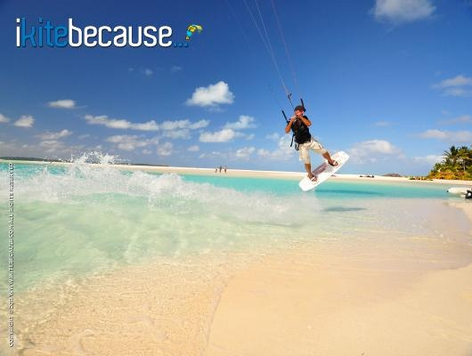 kiteboarding in the Cook Islands... on my list of places to go to!
