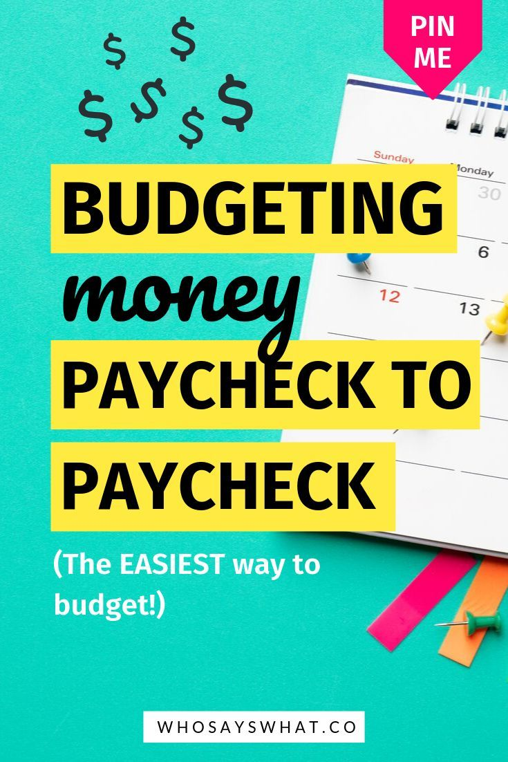 Pin On Paycheck To Paycheck