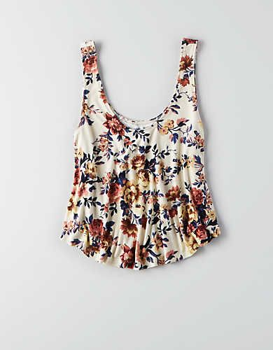 AEO Soft & Sexy Swing Tank , Cream | American Eagle Outfitters