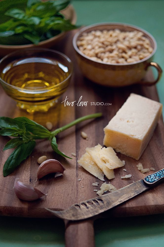 Simple Basil Pesto | Two Loves Studio | Food Photography | Pinterest