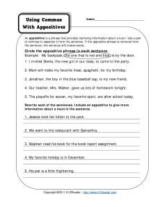 Printables Appositive Phrase Worksheet 1000 images about appositives on pinterest activities pronoun commas with free printable punctuation worksheets