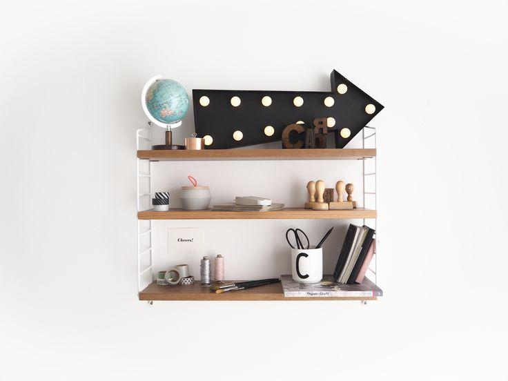 schne deko mit globus fr das pocket regal von string shelfie shelvesdecor regaldeko - Tolles Dekoration String Pocket Regal