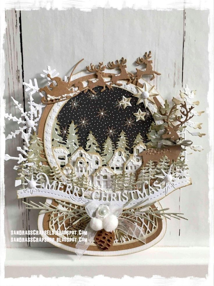 Image result for cards made using Joy Craft one of a kind snowglobe 60020926