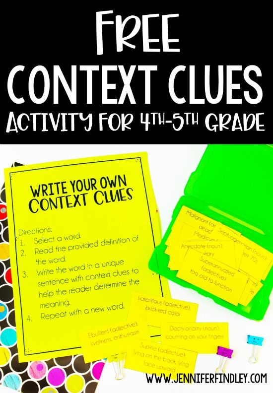 Free Context Clues Activity for Grades 4-5