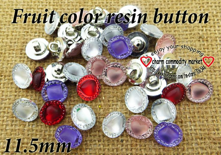 fashion newly 100PCS hight qualiy pearl rhinestone button mixed color 11.5MM R-083 $4,47