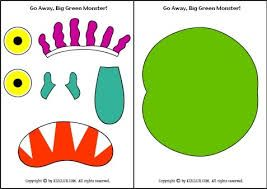 go away big green monster printable book - Google Search