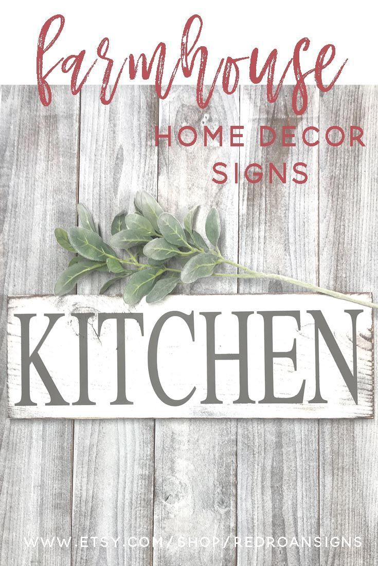 Shabby chic rustic kitchen wood sign, PIN NOW FOR LATER!   Farmhouse home decor signs make great keepsake gifts, which is spectacular for the upcoming wedding season, and housewarming parties. #house #houseideas #gift #wedding #housewarming #shabbychic #woodsigns