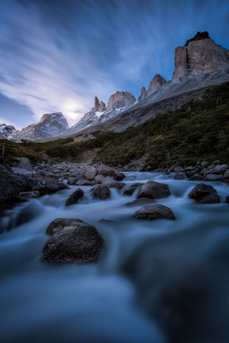 Ethereal landscapes nature photography by donna geissler - Photograph French Valley Moonrise Torres Del Paine By Jake Anderson On 500px Nice Landscapelandscape