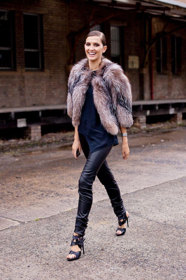 Leather +fur