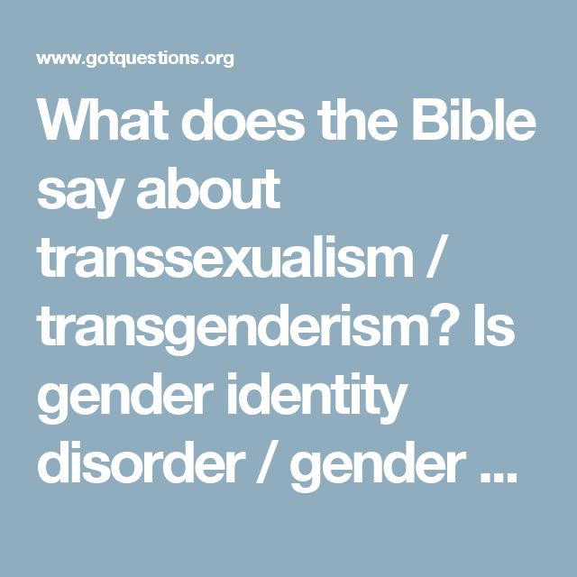 What Does The Bible Say About Transgender