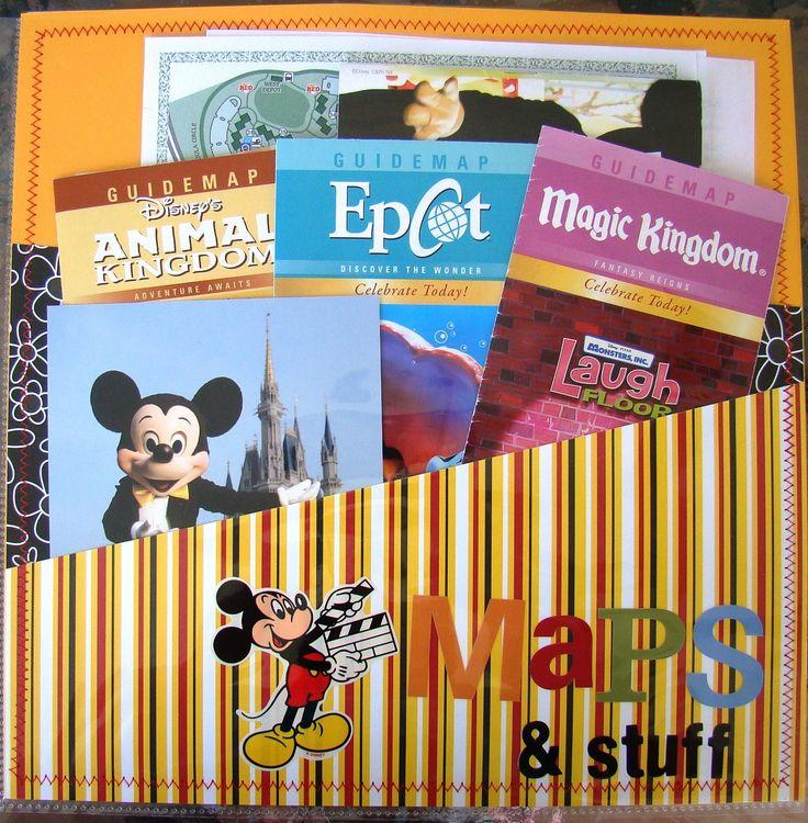 Maps & stuff pocket page - Scrapjazz.com Good idea for our D.C. trip souvenirs!