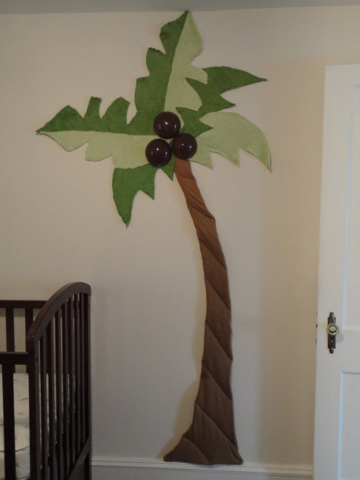 Homemade palm tree for his room