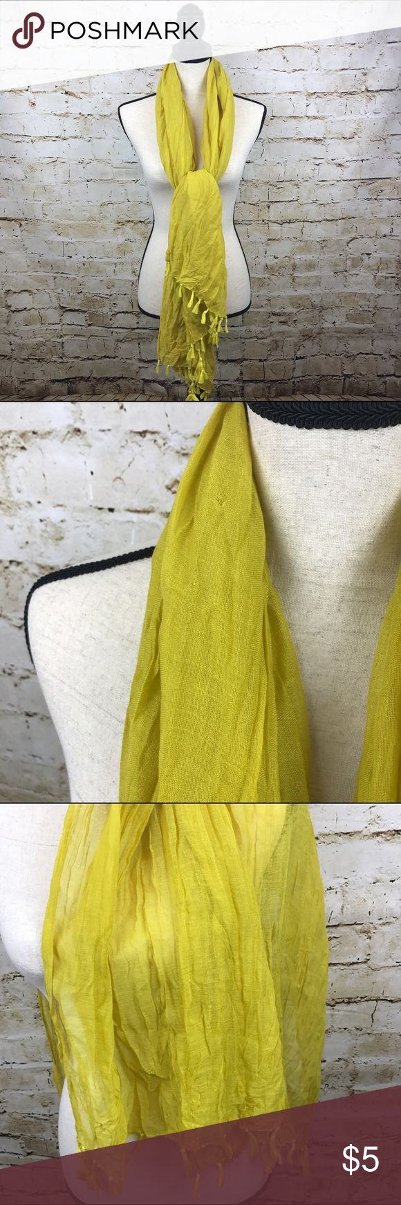 Target Brand Textured Tassle Scarf Like new Target brand textured tassle scarf in golden yellow. Target Accessories Scarves & Wraps