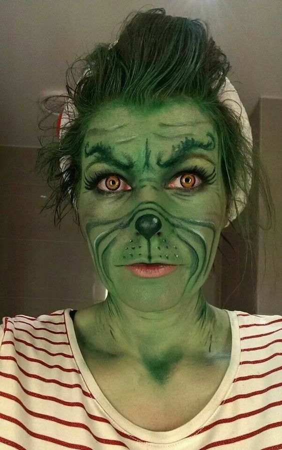 Grinch Kostüm selber machen | Kostüm-Idee zu Karneval, Halloween & Fasching
