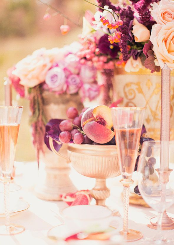 Peach And Plum Fall Wedding Inspiration By Utah Events By Design   Photo By  Alixann Loosle