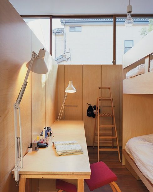 Workspace in a compact room for two brothers by takaharu for How to set up a small bedroom