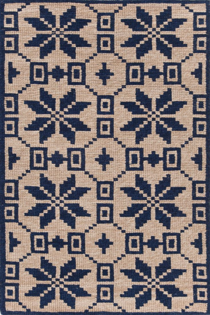 Dash & Albert   Nordic Star Indigo Wool Woven Rug   We\'re head over paws for this Alpine-inspired woven wool rug, featuring larger yarns with an rustic, hooked appearance. Durable, loveable, and utterly nap-able.