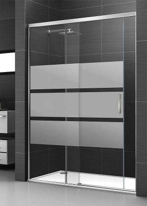 Mampara de ducha corredera cristal serigrafiado