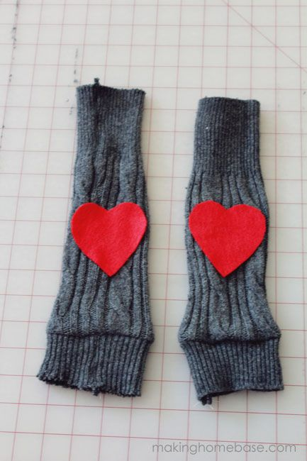 makinghomebase sweater leggings with heart patch