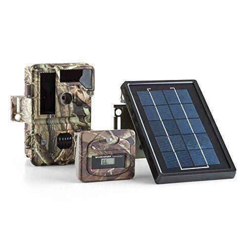 DURAMAXX Solar Grizzly Caméra embarquée faune &flore avec flash infrarouge (LED HD 8 MP, panneau solaire, 15 / 30 images par seconde, 32Go)…