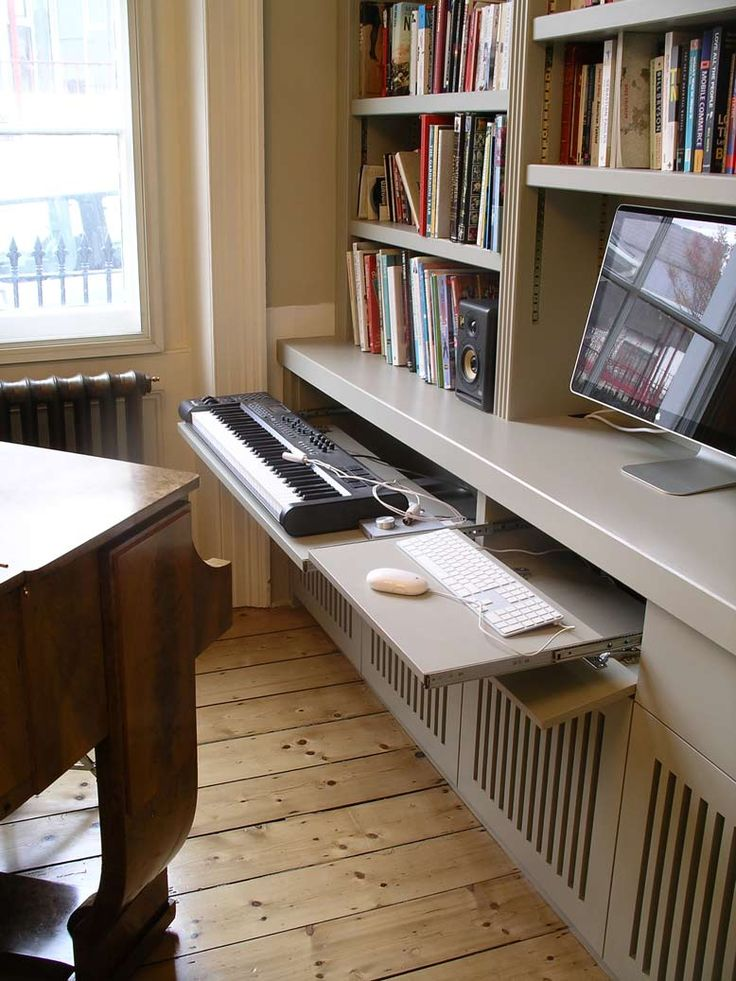 pull-out keyboard trays on full extension runners