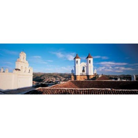 High angle view of a city San Felipe Neri convent Church Of La Merced Sucre Bolivia Canvas Art - Panoramic Images (18 x 7)