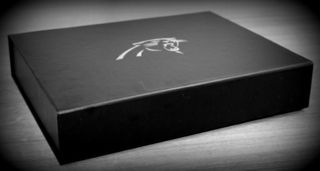 Carolina Panthers- Silver foil stamp, cigar style season tickets box