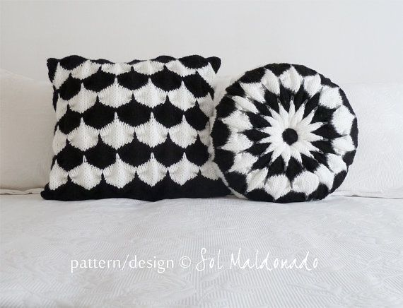 Geometric Cushion Knitting Pattern : 17 Best images about Stitch by Stitch on Pinterest Cowl scarf, Mandalas and...