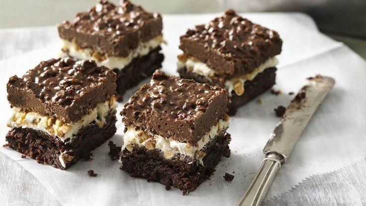 Six-Layer Brownie Bars | Recipe | Almond macaroons, Almonds and ...