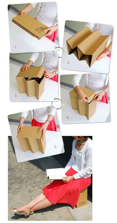 Dolmen, una silla portátil hecha con cartón
