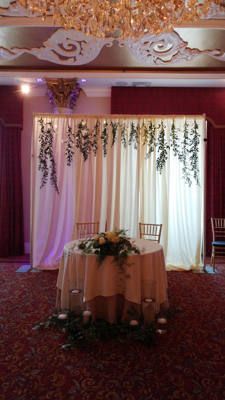 17 Best Ideas About Sweetheart Table Backdrop On Pinterest