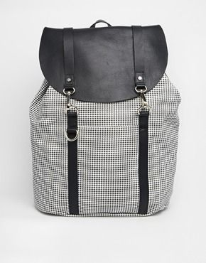 Enlarge Jack Wills Canvas Backpack with Leather Trim