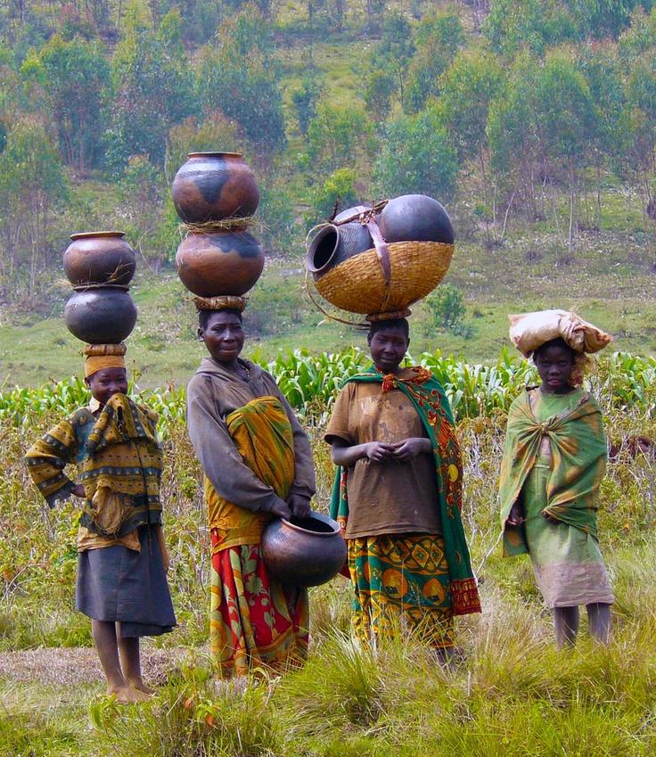 Africa | Batwa Women In Burundi | Photographer unknown