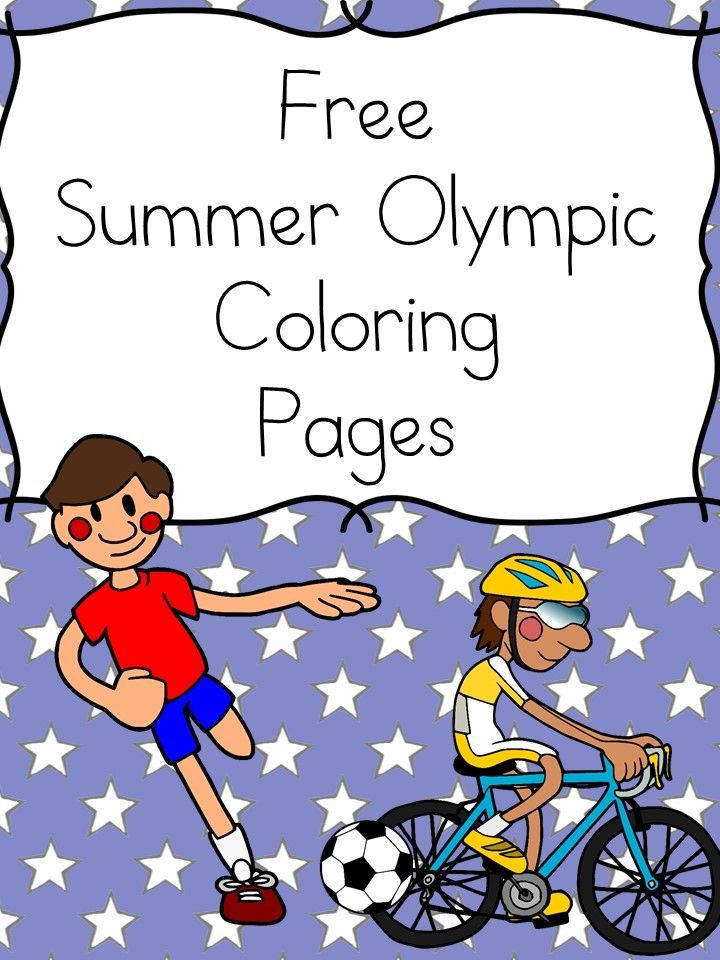 Olympic Sports Coloring Pages -Free Fun Summer Olympic Sports Coloring Pages for preschool or kindergarten .