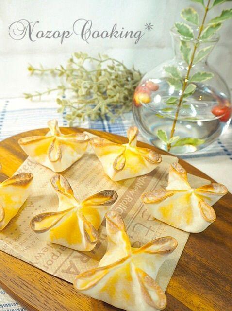 餃子の皮のおしゃれアレンジレシピ☆形がかわいいスイートポテトパイ♪