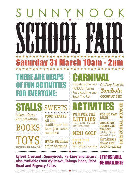 poster ideas poster designs school fair fete ideas school carnival