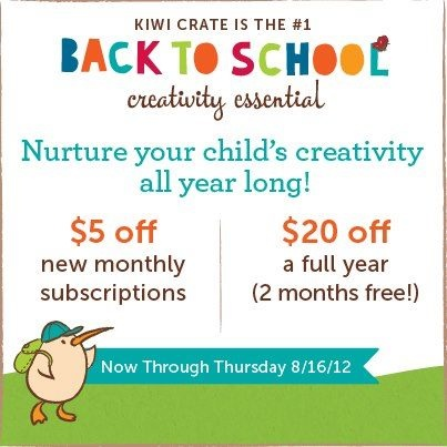 HURRY! It's your LAST CHANCE to take 20.00 off a year of Kiwi Crate (2 months FREE!) or 5.00 off your first month! Offer expires at 11:59 PM tonight!      #bts #backtoschool